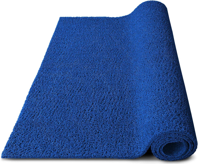 120x100 cm robuste Schmutzfangmatte aus Vinylschlingen blau viele Gr/ö/ßen w/ählbar Spaghettimatte f/ür den Eingangsbereich