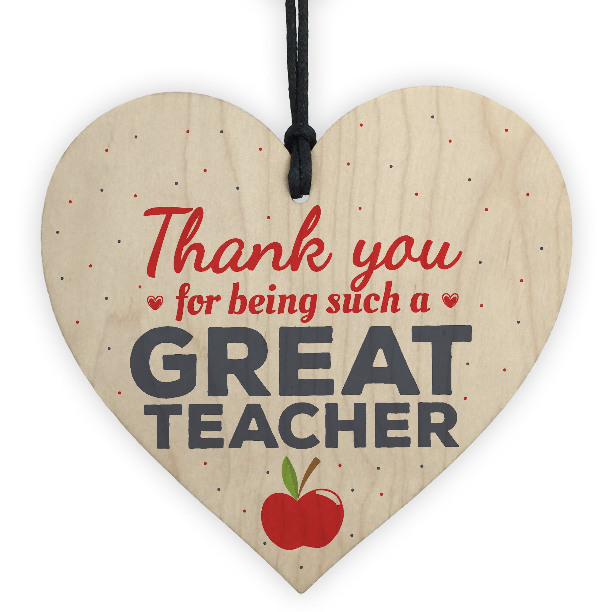XLD Store Thank You Gifts Teacher Gift Wooden Heart Leaving Goodbye Teaching Assistant Nursery School Present
