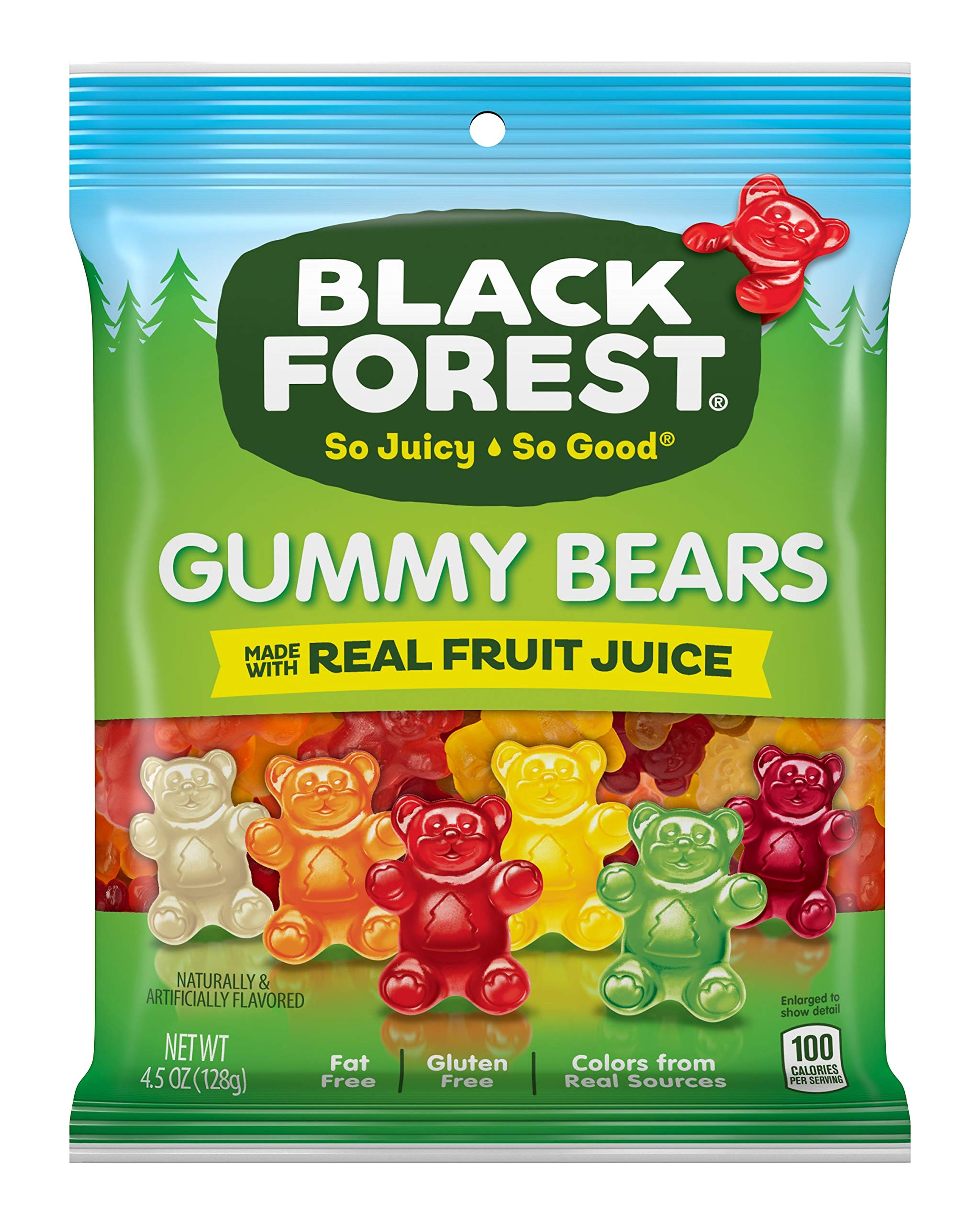 Black Forest Gummy Bears Candy, 4.5 Ounce (Pack of 12) by Black Forest