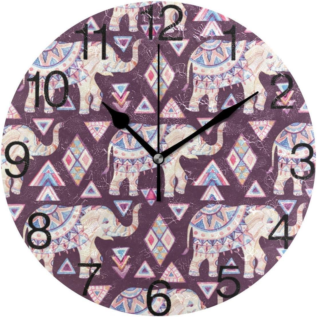 Bit Indian Elephant - Reloj decorativo para pared ...