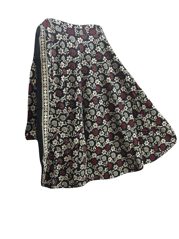 Mogul Interior Womens Wrap Around Skirt Green Animal Printed Cotton Long Wrap Dress Skirts One Size