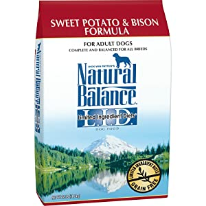 Natural Balance L.I.D. Limited Ingredient Diets Dry Dog Food, Grain Free, Sweet Potato & Bison Formula, 26-Pound