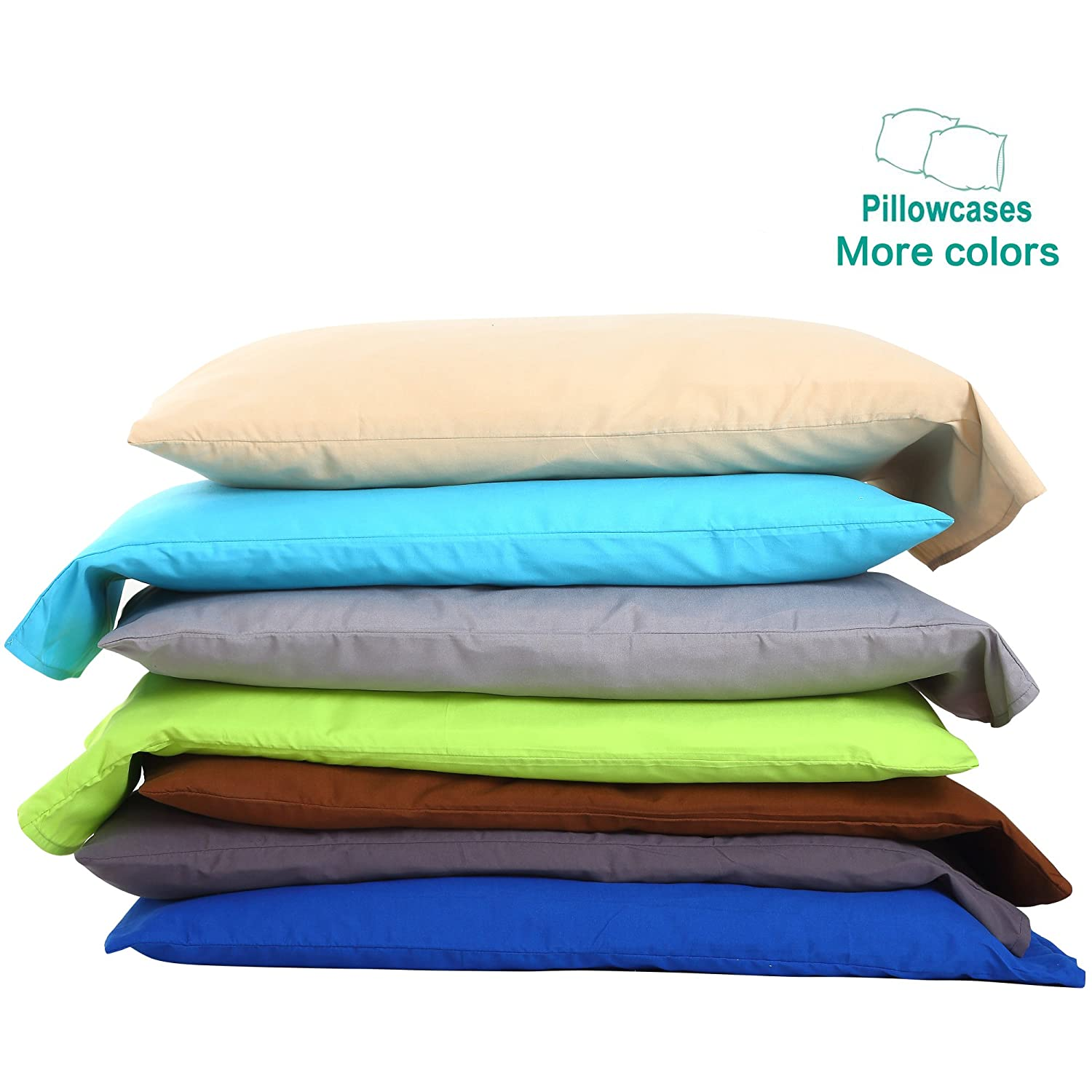 NTBAY 100% Brushed Microfiber Pillowcases Set of 4