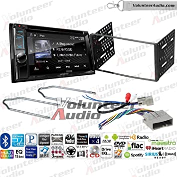 Volunteer Audio Kenwood Excelon DDX395 Double Din Radio Install Kit with Bluetooth, Sirius XM Ready, Touchscreen Fits 2003-2011 Crown Victoria, 2005-2007 Escape