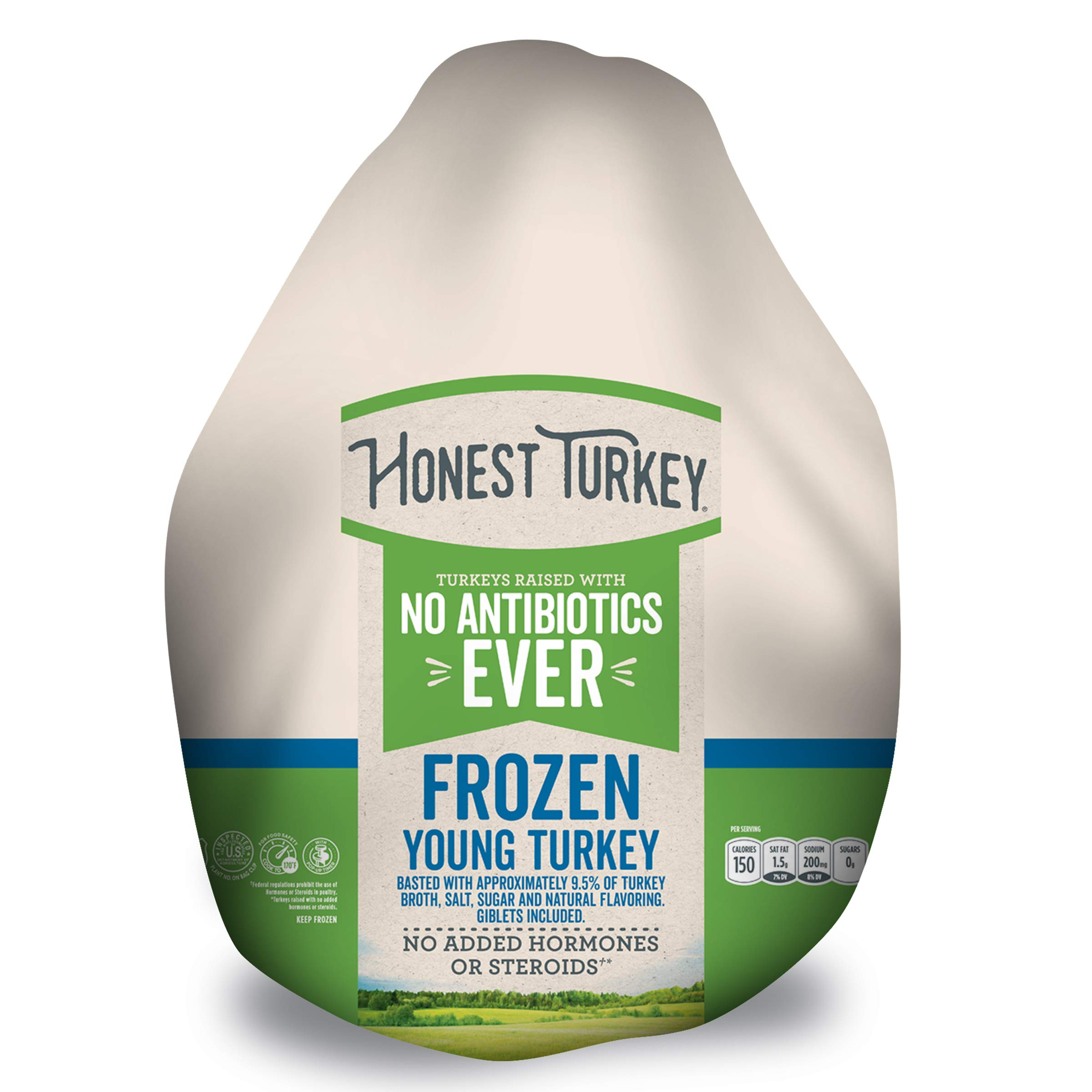 Honest Turkey Whole Turkey, 10-14 lbs., Frozen - Turkeys raised with No Antibiotics Ever