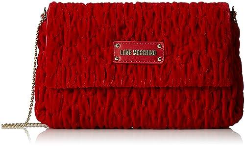Borsa Fabric Rosso, Womens Cross-Body Bag, Rot (Red), 17x28x5 cm (B x H T) Love Moschino