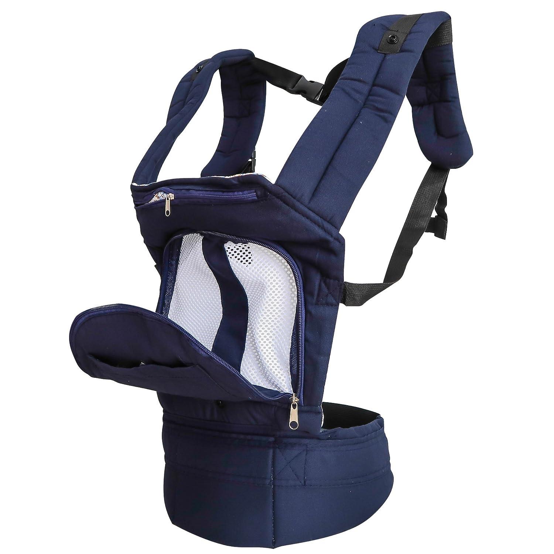 TOAOB Babytragen Babybauchtragen Baby Fördermaschine Rucksack Bauch und Hüfttrage Tragegurt Einstellbar Schnalle für Babys und Kleinkinder von 3-36 Monaten FR-KZLH0078