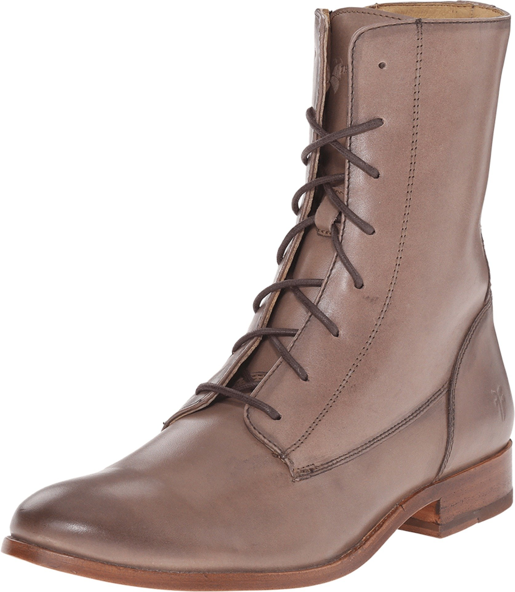 FRYE Women's Melissa Lace Up Boot, Cement Smooth Vintage Leather, 8.5 M US