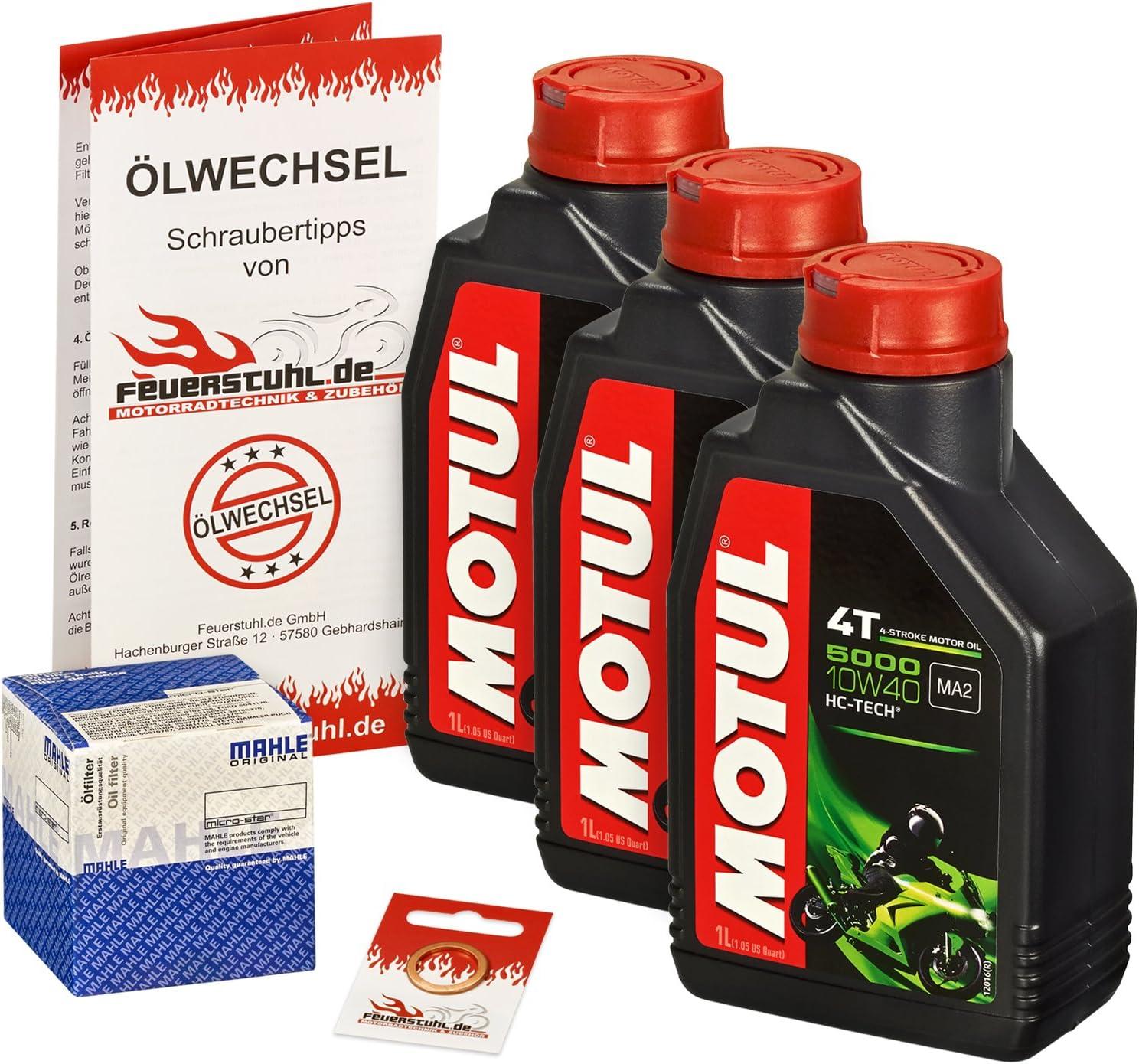 Motul 10w 40 Öl Mahle Ölfilter Für Yamaha Mt 09 Alle Modelle 13 15 Rn29 Ölwechselset Inkl Motoröl Filter Dichtring Auto