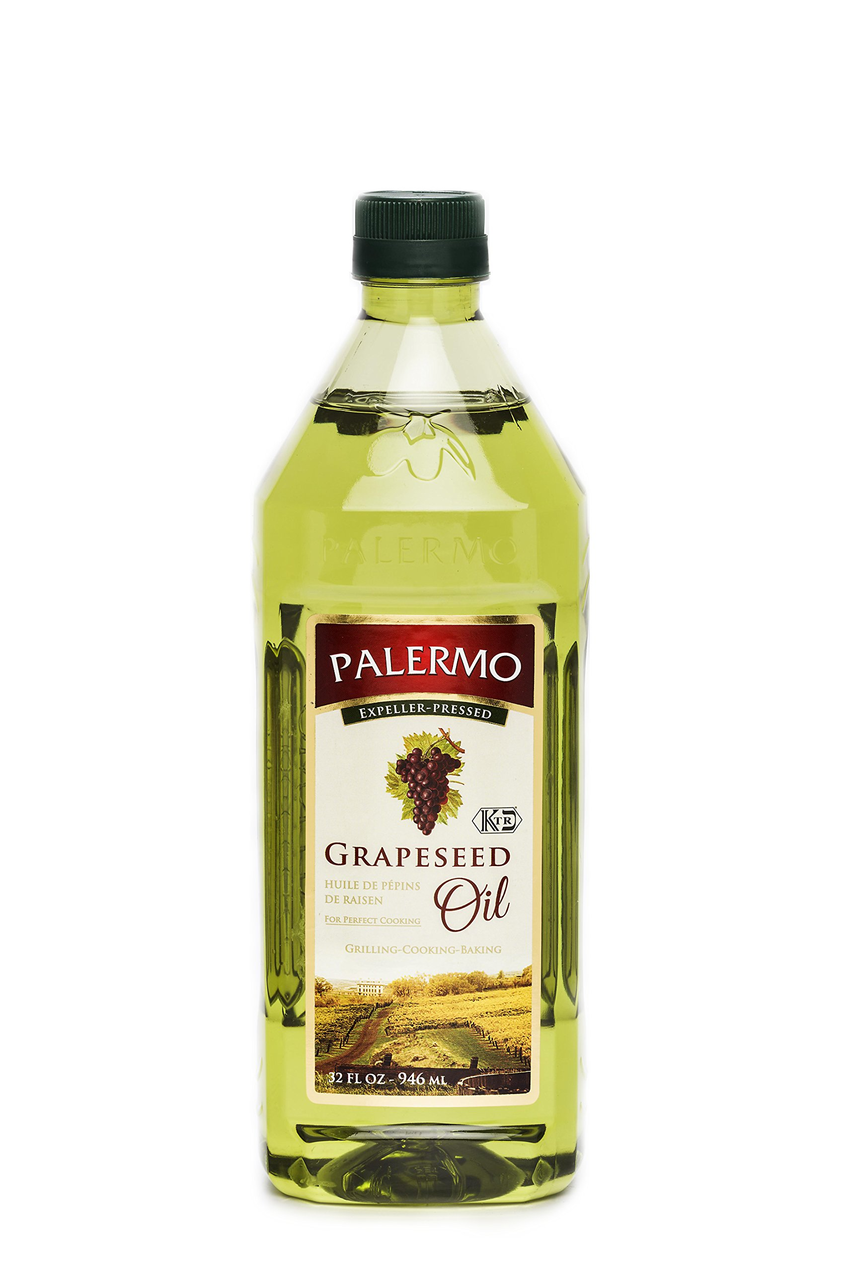 Palermo Grapeseed Oil, 32 Fluid Ounce (Pack of 12) by Palermo