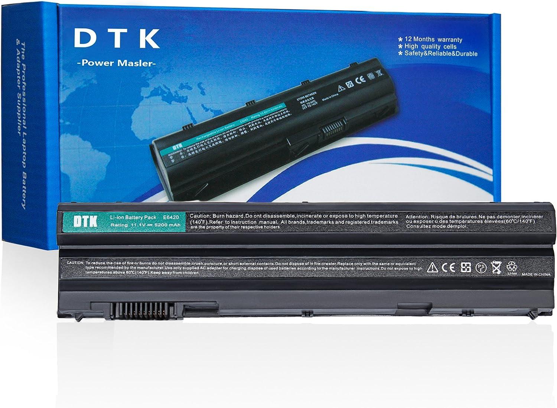 DTK T54FJ M5Y0X 8858X Laptop Battery Replacement for DELL Latitude E6420 E6430 E6440 E6440 E6530 Vostro 3460 3560 Inspiron 5720 7520 Notebook 11.1V 4400mAh 6 Cell
