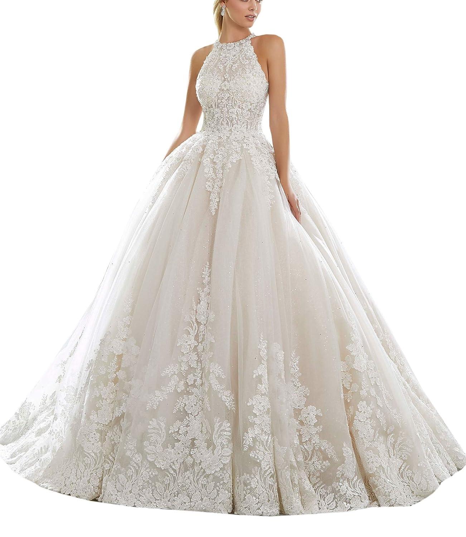 Mythlove Women S Bridal Gown Wedding Dress For Bride High