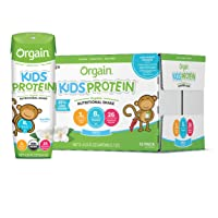 Orgain Organic Kids Protein Nutritional Shake, Vanilla - Great for Breakfast & Snacks...