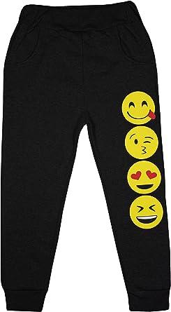 Pantalones de chándal con estampado de emoticonos para niñas de ...