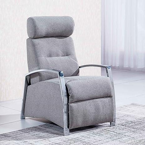 Sillón relax reclinable modelo Malcom tejido Elegance color ...