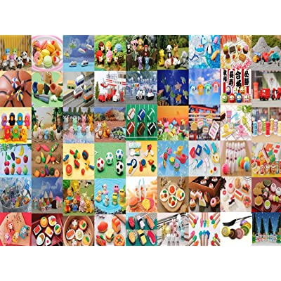 Iwako Erasers Bulk Assorted, 100 Piece: Toys & Games [5Bkhe0304702]