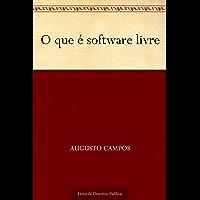 O que é software livre