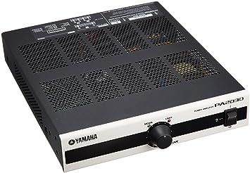 Yamaha PA2030 Hogar Alámbrico Negro, Gris - Amplificador de Audio (D, 0,