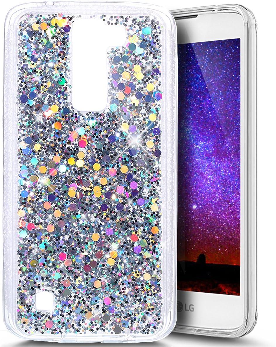 LG K7 móvil, LG K8 funda, carcasa de silicona para LG K7/LG K8, LG K7 Bling Carcasa, ukayfe Luxus Schön Shiny Brillante Brillante Suave TPU protectora Crystal Carcasa Funda Silicona Shin Ning