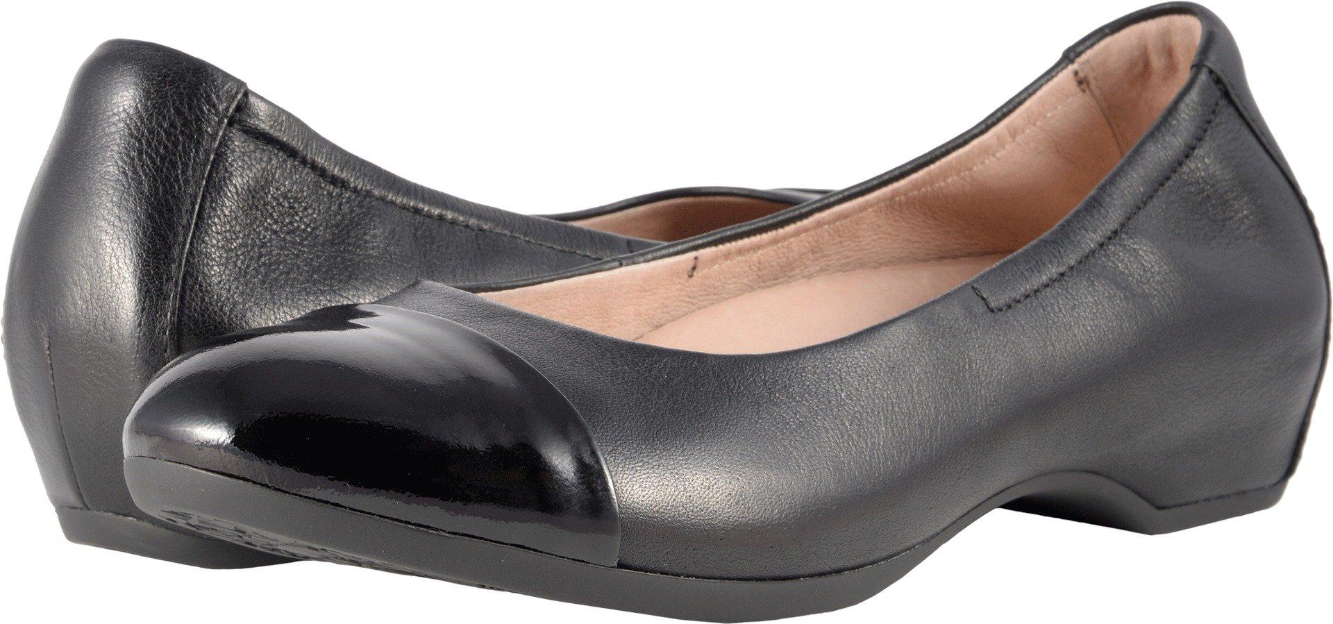 Dansko Women's Lisanne Flat Black/Black Milled Nappa Size 38 EU (7.5-8 M US Women)