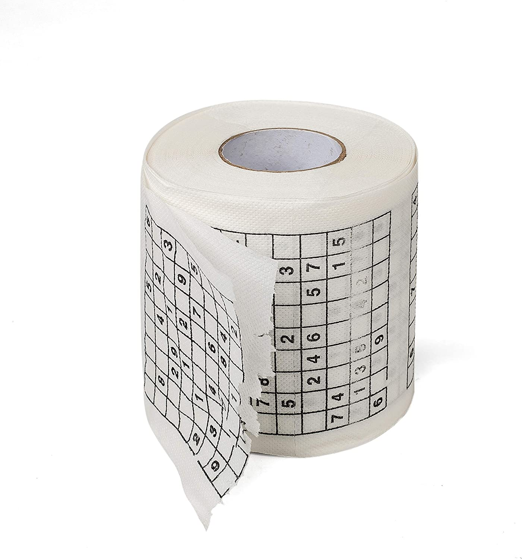 1 Roll of Sudoku Toilet Paper Tissue Napkin Prank Fun Birthday Party Novelty Gift Idea 2 pk