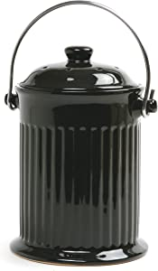 Norpro Ceramic Compost Keeper, Black