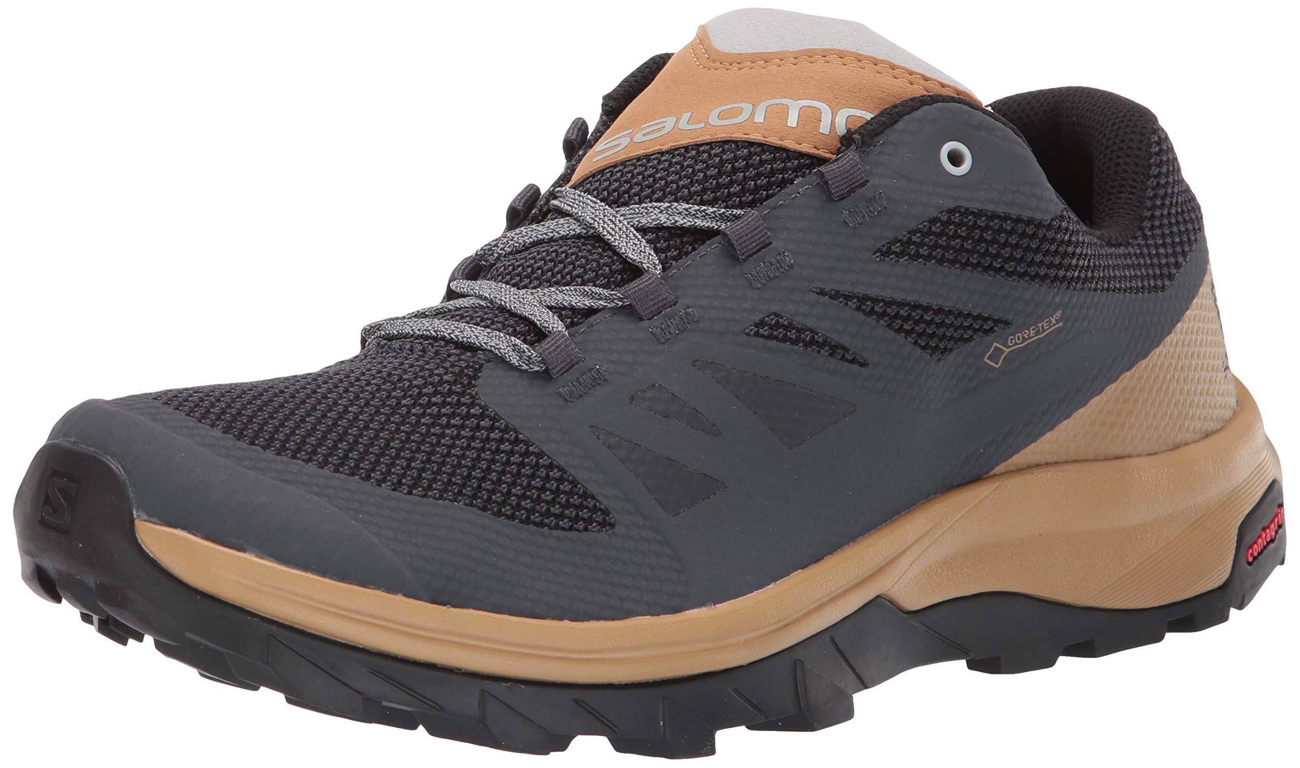 SALOMON Men's Outline GTX Hiking Shoes, Ebony/Bistre/Pearl Blue, 11 by SALOMON