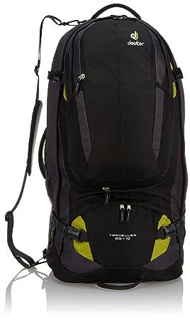 Deuter Traveller 80 + 10 Mochila, Unisex Adulto, Negro (Black-Moss), 79 Centimeters: Amazon.es: Deportes y aire libre