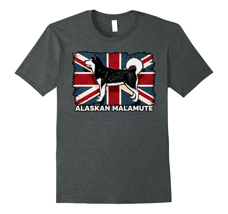 Alaskan Malamute Dog Pet Union Jack British Flag Shirt