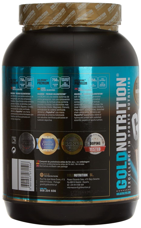 GoldNutrition Goldrink Premium Isotónico, Sabor Limón - 750 gr: Amazon.es: Salud y cuidado personal