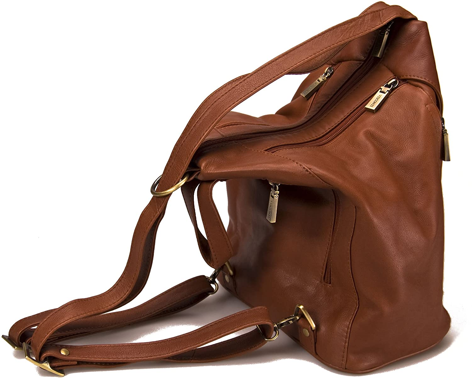 7640c4da608e Visconti Leather Backpack Handbags for Women - Rucksack for Travel DANII    18357  Brown   Amazon.co.uk  Shoes   Bags