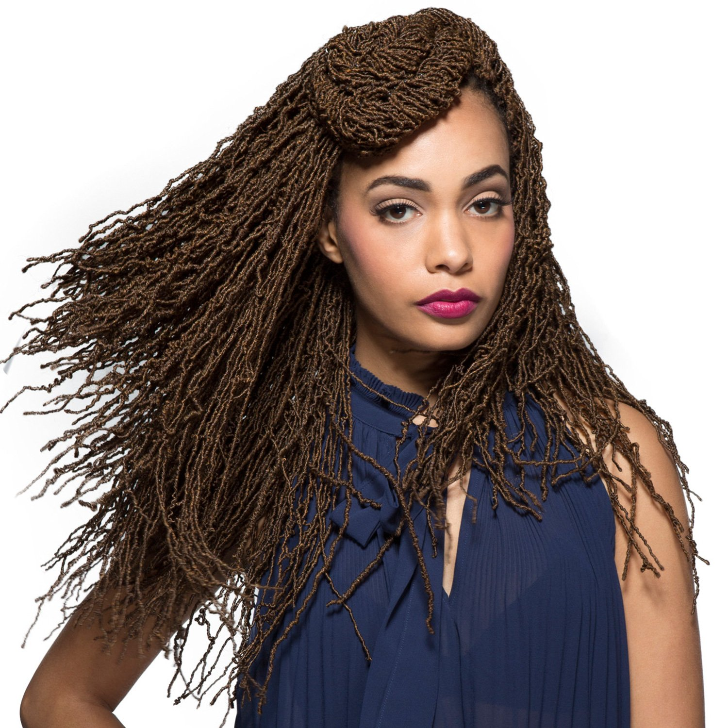 Bobbi boss braiding hair - Amazon Com Bobbi Boss Synthetic Hair Crochet Braids African Roots Braid Collection Micro Locs 18 6 Pack 1b Beauty