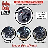 dbest products Trolley Dolly with Seat, Black