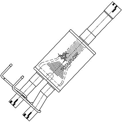 Amazon Com Totalflow 314633 09 18 1500 Direct Fit Exhaust Muffler