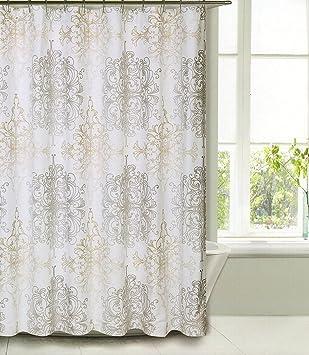 Amazon.com: Shower Curtain Fabric Tahari Home Luxurious Milan ...
