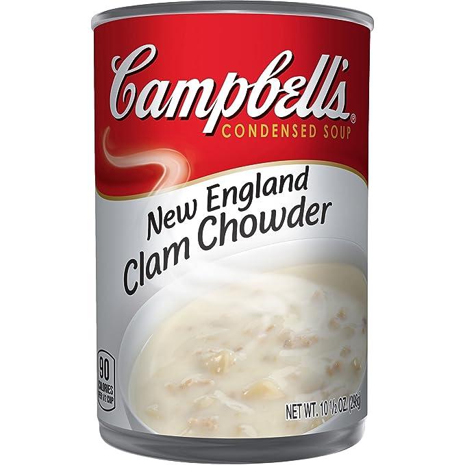 Campbells - Sopa condensada, crema de almejas nueva inglaterra,