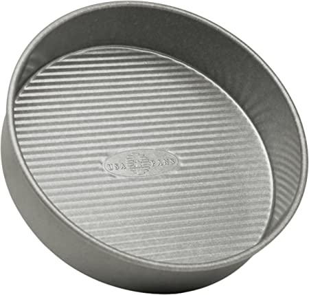 USA Pan Bakeware 1070LC Round Cake Pan, 9 inch, Nonstick Quick Release Coating, 9-Inch