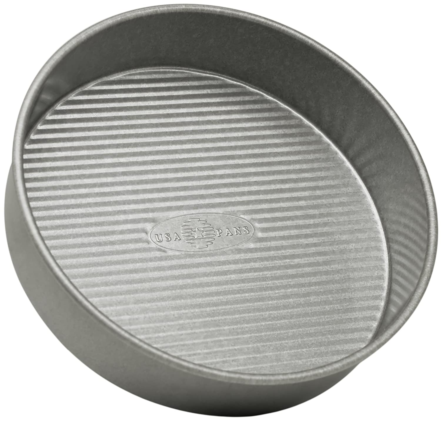 USA Pan Bakeware 1070LCRound Cake Pan, 9 inch, Nonstick & Quick Release Coating, 9-Inch