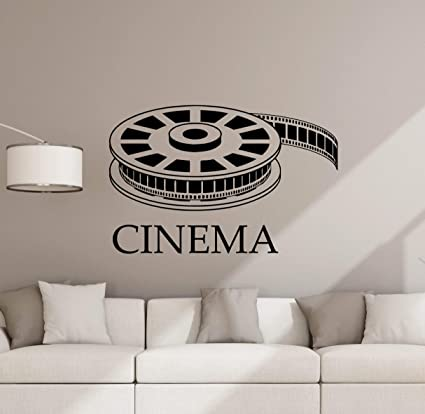 Amazon.com: Cinema Wall Decal Movie Film Poster Home Theater Sign ...
