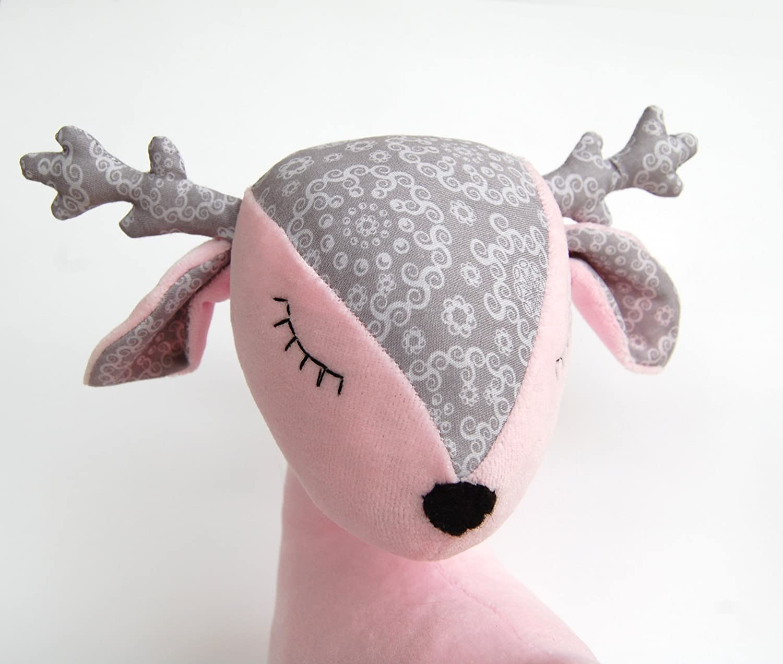 Plush Deer Doll Baby Girl Christmas Gift Pink