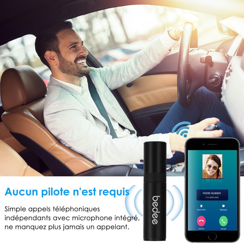 Récepteur Bluetooth 4.1 Voiture, bedee Mini Adapteur Audio, Kit Voiture Mains Libres avec Sortie Stéréo Compatible avec le Système Audio 3.5mm Jack pour Maison / Casque / Téléphone / PC / Tablette / Véhicule