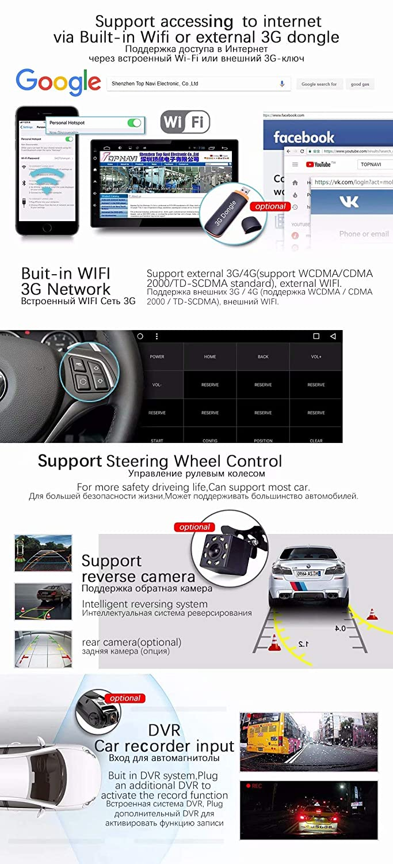 TOPNAVI Octa Core Android 8.1 Unidad de Radio para Citroen C ...