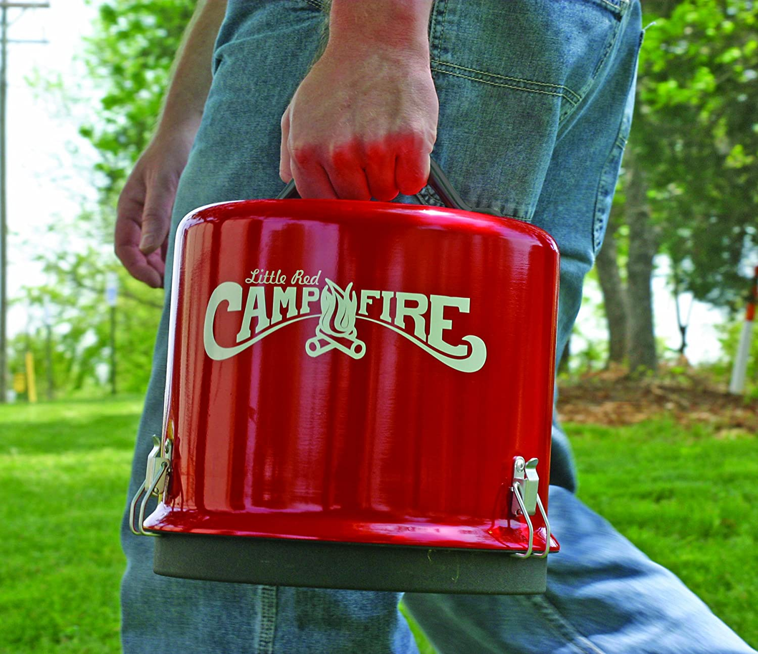 Gentil Amazon.com: Camco Little Red Campfire 11.25 Inch Portable Propane Outdoor  Camp Fire, Approved RV Campgrounds   65,000 BTUu0027s Includes 8 Foot Propane  Hose ...