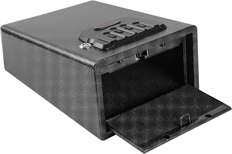 "Dalmbox Small Gun Safe Gun Vault Smart Quick Access Pistol Safe Security Cabinet Handgun Lock Security Box H5.5""X W9""X D11.4"""