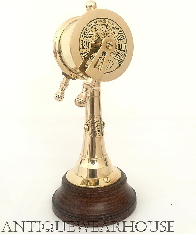 "Brass Telegraph 15/"" Vintage Antique Ship Marine Engine Room Decorative Item"