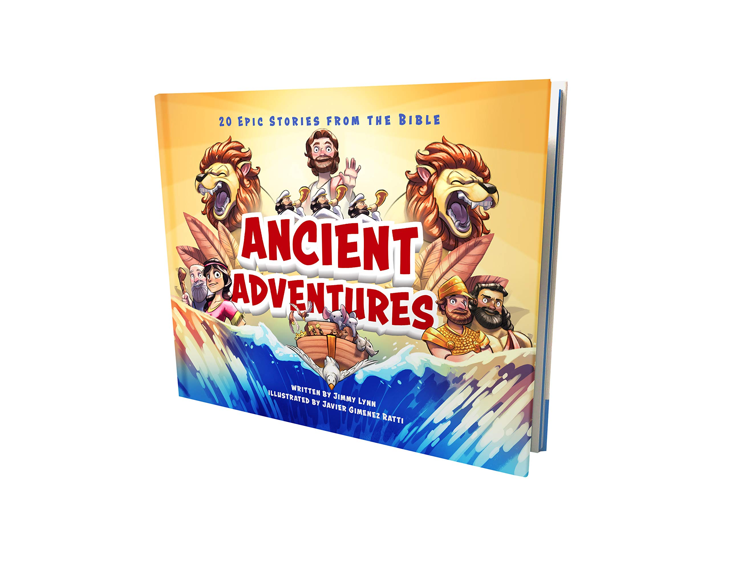 Ancient Adventures: 20 Epic Stories from The Bible – Child's First Bible Story Book with Beautiful Two-Page Illustrations – Fun Way to Teach Your Children God's Message from Puppy Dogs & Ice Cream