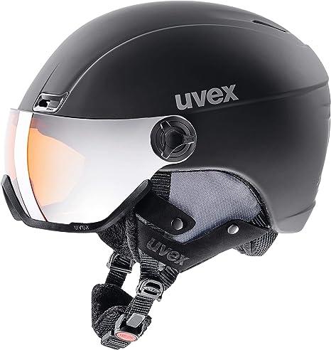 Größe 53-58 cm *TOP* Uvex Skihelm HLMT 400 Visor Style navyblue mat