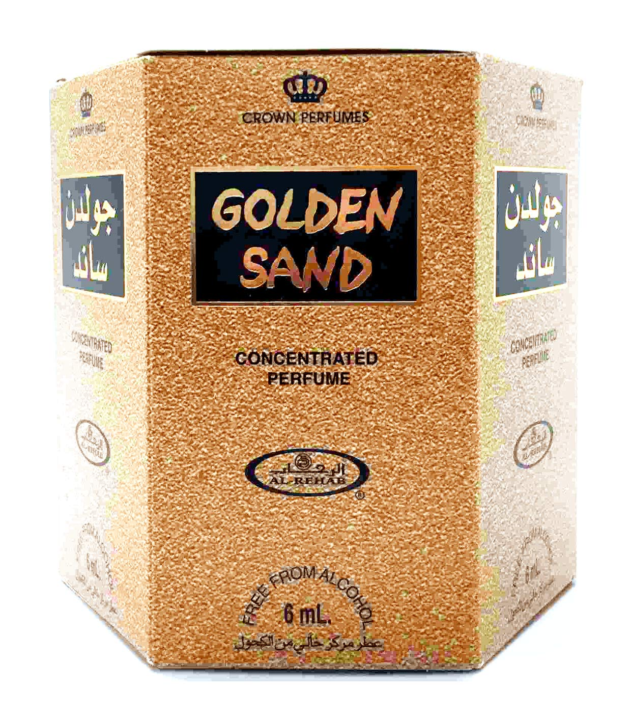 Golden Sand Perfume Oil - 6ml Roll On Perfume by Al-Rehab Crown Perfumes (Box of 6)