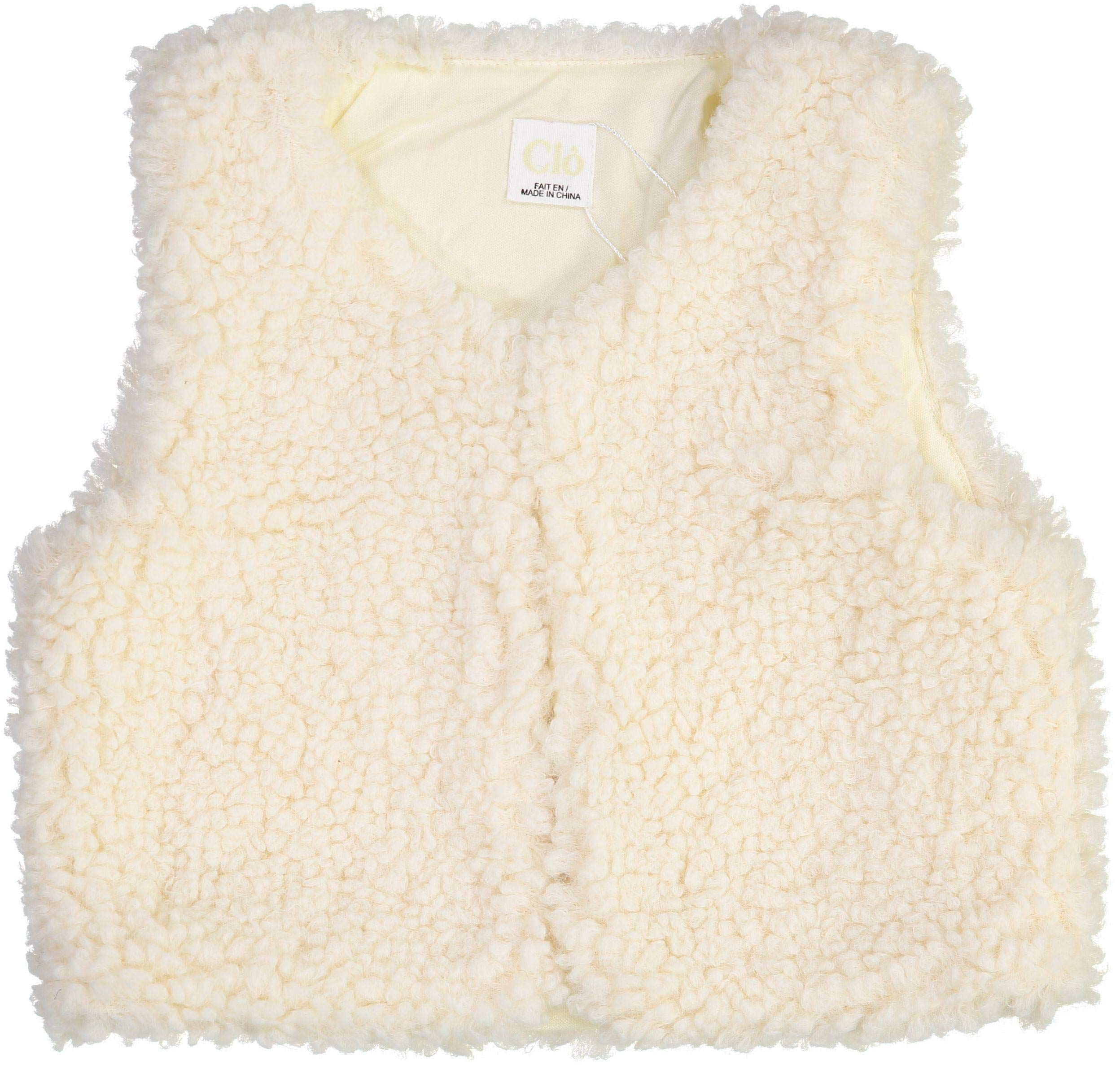 Clo Boys Girls Unisex Baby Sherpa Vest - WA9CP4009V - Off White, 6 Months by Clo