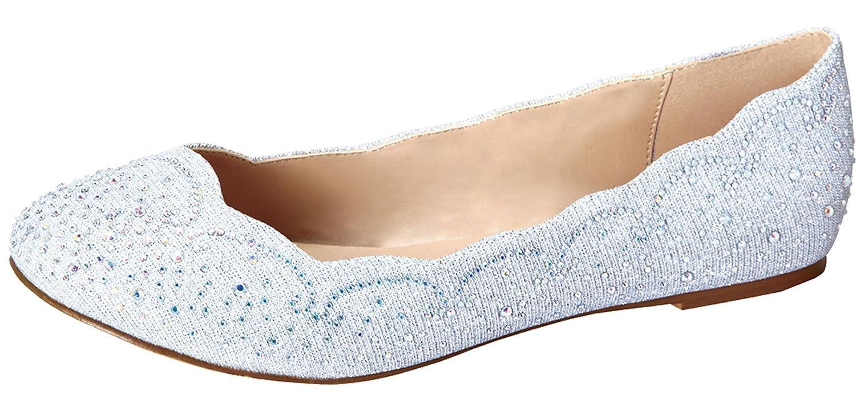 de Blossom Footwear Women's Baba-54 Sparkly Crystal Rhinestone Ballet Flats B01BLWJTZW 10 B(M) US|Silver Sparkle